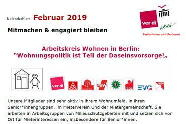 Kalenderblatt Februar 2019