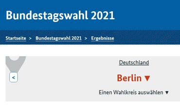 Bundestagswahl 2021 - Ergebnisse Berlin